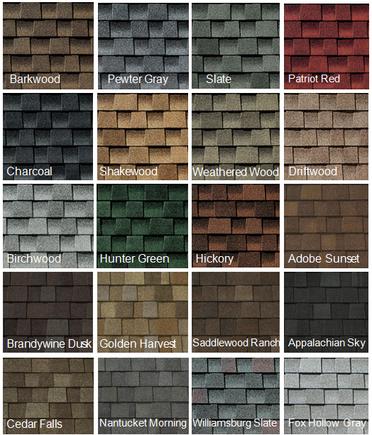 Roofing Samples